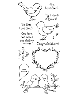 Tammy DeYoung Lovebirds Clear Stamp Set 11219LC