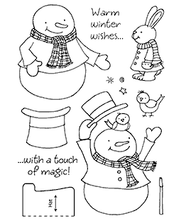 Magic Snowy Clear Stamp Set 11194MC
