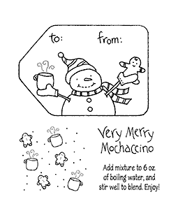 Merry Mochaccino Clear Stamp Set 10939SC