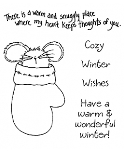 Mitten Mouse Clear Stamp Set 11268SC