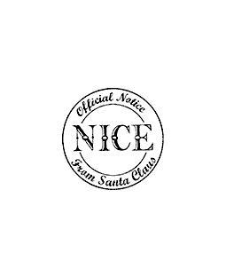 Nice Notice Wood Mount Stamp D1-0712D