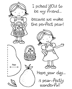 Perfect Pear Clear Stamp Set 11152MC