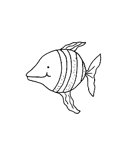 Pointy-Nosed Fish Wood Mount Stamp G1-5601F