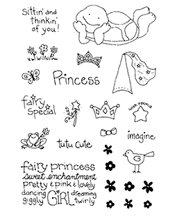 Princess Turtle Clear Stamp Set 10935MC