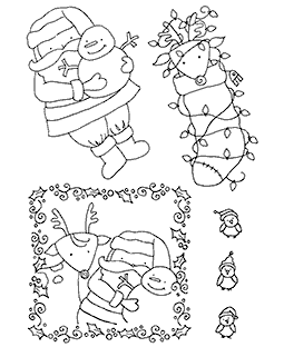 Santa & Pals #2 Clear Stamp Set 11008MC