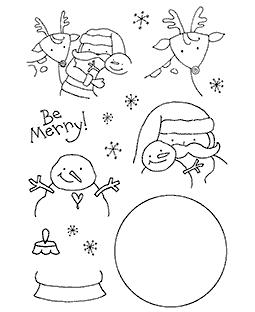 Santa & Pals Clear Stamp Set 11003MC