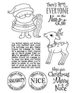 Santa's List Clear Stamp Set 11190MC