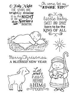 Savior's Birth Clear Stamp Set 11191MC