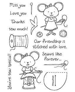 Tammy DeYoung Sewing Mouse Clear Stamp Set 11153MC