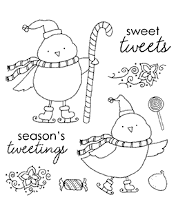 Snow Birdies Clear Stamp Set 11058SC