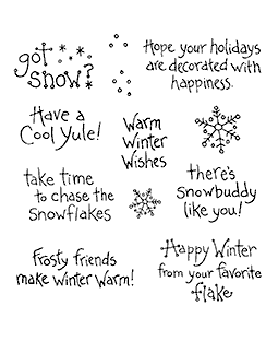 Snow Sayings Clear Stamp Set 10996SC