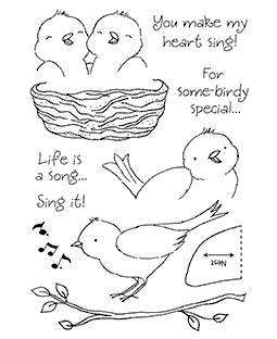Songbirds Clear Stamp Set 11217MC
