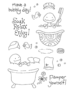 Spa Turtle Clear Stamp Set 10968MC