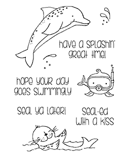 Splashy Sea Creatures Clear Stamp Set 11249MC