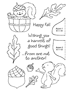 Squirrel Clear Stamp Set 11117MC