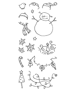 Stylish Snowy Clear Stamp Set 10998LC