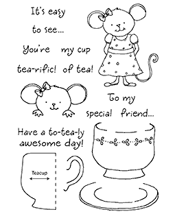 Teacup Mouse Clear Stamp Set 11089MC