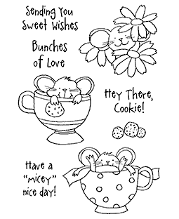 Teacup Mousies #2 Clear Stamp Set 10953MC