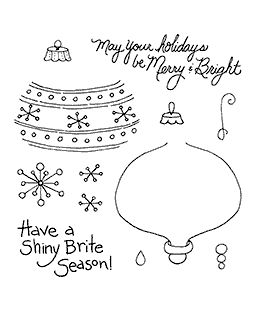 Teardrop Ornament Clear Stamp Set 11002SC