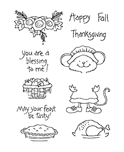 Thanksgiving Millie Clear Stamp Set 11000MC
