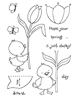 Tulip Duck Clear Stamp Set 11090MC