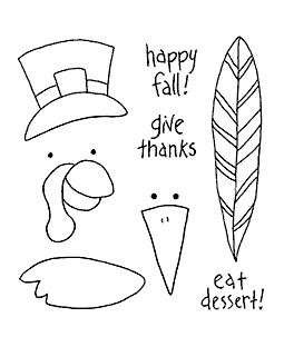 Turkey & Crow Maker Clear Stamp Set 10993SC