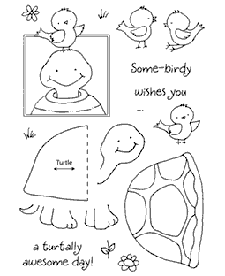 Turtle Clear Stamp Set 11044MC