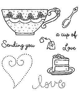 Teacup Love Clear Stamp Set 11018SC