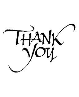 Thank You Wood Mount Stamp J2-57076F