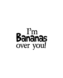 Bananas Over You Wood Mount Stamp D2-0726D