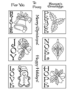 Trudy Sjolander Christmas Tags Clear Stamp Set 11203MC