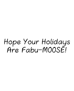 Fabu-moose Wood Mount Stamp D5-10496D