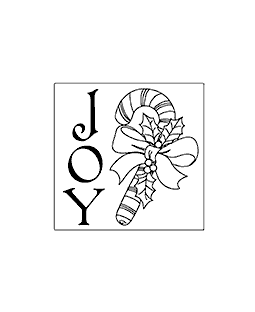 Joy Square Wood Mount Stamp G1-2610F