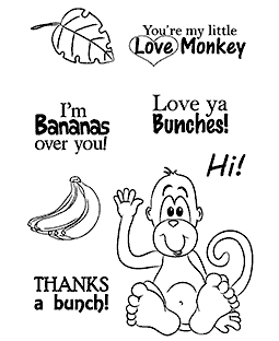 Love Monkey Clear Stamp Set 11228MC