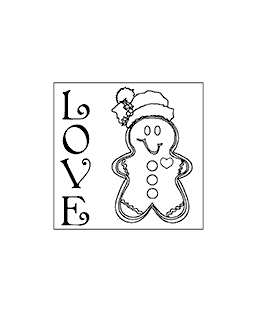 Love Square Wood Mount Stamp G1-2622F