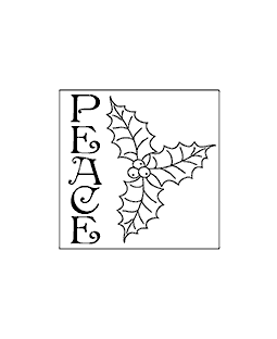 Peace Square Wood Mount Stamp G1-2845F