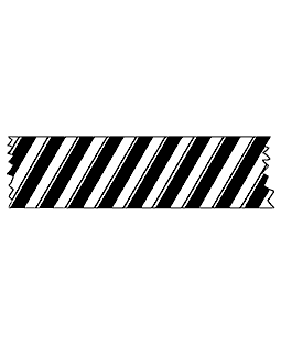 Peppermint Stripe Washi Tape Wood Mount Stamp E3-0721E