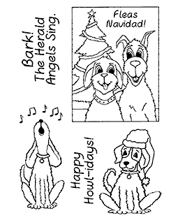 Punny Christmas Pups Clear Stamp Set 11129MC