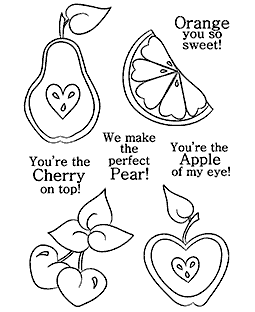 Sentimental Fruit Clear Stamp Set 11229MC