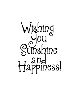 Sunshine & Happiness Wood Mount Stamp E1-0550E