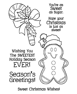 Trudy Sjolander Sweet Christmas Clear Stamp Set 11204MC