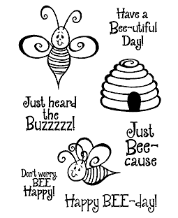 Swirly Bees Clear Stamp Set 11154MC