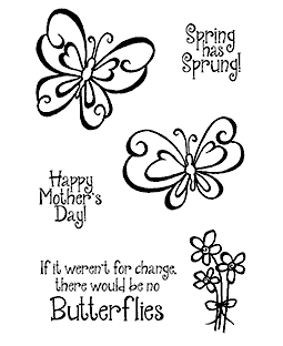 Swirly Butterflies Clear Stamp Set 11156MC