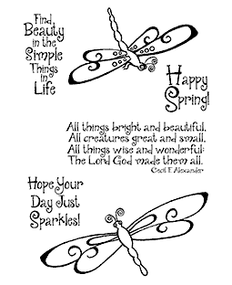 Swirly Dragonflies Clear Stamp Set 11157MC