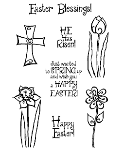 Trudy Sjolander Swirly Easter Clear Stamp Set 11158MC