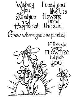 Swirly Sunshine & Flowers Clear Stamp Set 11159MC