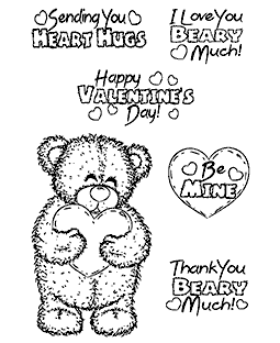 Trudy Sjolander Teddy Hugs Clear Stamp Set 11230MC
