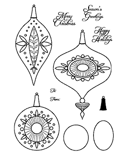 Vintage Ornaments Clear Stamp Set 11206MC