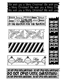 Trudy Sjolander We Washi You A Merry Christmas Clear Stamp Set 11207MC