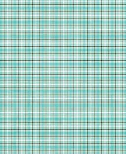 "Turquoise & Tan Plaid 12"" x 18"" Printed Cardstock - SPAC015"